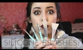 Trying Silicone Makeup Brushes | HIT OR MISS?