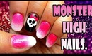 Monster High Logo Inspired nails | Tutorial