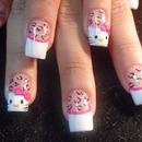 Wild Hello Kitty Nails.