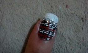 Tartan nail art tutorial