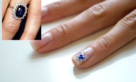 Royal Wedding Ring Nail Art Tutorial