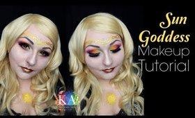 Sun Goddess Halloween Makeup Tutorial