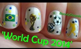 Quick and Easy World Cup 2014 Nails ★ Water Decals for Nail Art ★ Review Bornprettystore.com