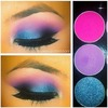 Blue and pink eye shadow