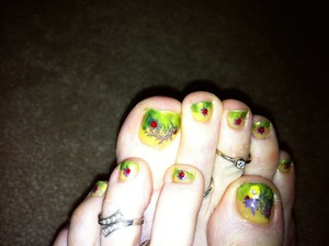 I wanted to add some cheerful spring colors to my feet.