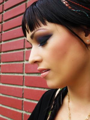 Makeup on my friend Marissa