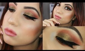 WARM OLIVE SMOKEY EYE TUTORIAL: HUDA BEAUTY ROSE GOLD PALETTE