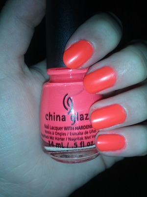 China Glaze Pool Party. A bit messy around the edges especially the pinky, which disappointed me a bit haha but oh well its a nice color