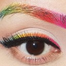 Rainbow Eyeliner & Eyebrows