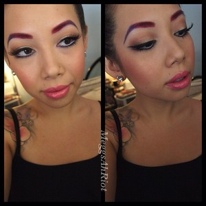 colored, ombre brows for work