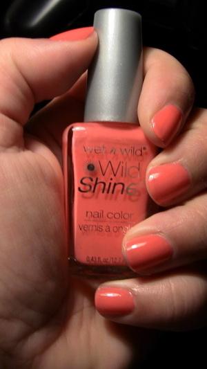 Nails: Wet N Wild Nail Polish in Blazed