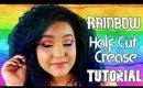 Rainbow Half Cut Crease Makeup Tutorial (NoBlandMakeup)