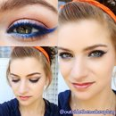 Colorful Eyeliner: Bright Blue