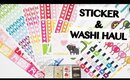 Scribble Prints Co and Washi Haul