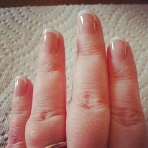 trying out the  essence studio nails  better than gel nails  french manicure tips