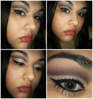 This look was created with TheBalms Nude'Tude palette :D