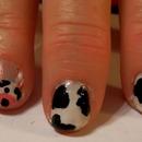 Cute Cow Nails