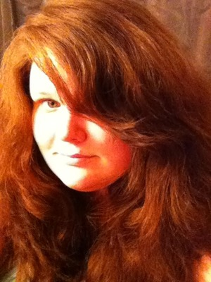 Bad iphone pic of my hair being semi-tame.