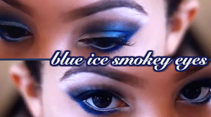 "video stills from my Winter ""Blue Ice"" Eyes Tutorial."