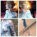 Human Sketch Body Art