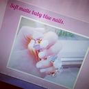 Baby bleu nails.