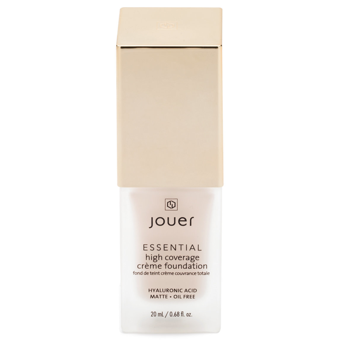 Jouer Cosmetics Essential High Coverage Crème Foundation Ivory product smear.