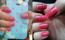 NAV | Pink & Black Fishnet Lace Nail Stamping Art Tutorial