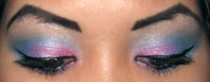 [ Cotton candy faerie inspired eye look<3 ]