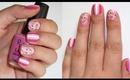 Rose & Ombre Stripe Nail Art Tutorial