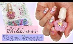 Manicure Using Kid's Nail Polish   Kirakiranail ♡