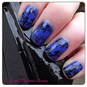 Nails Inc - Baker Street and Black Konad Special Polish