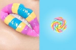 candy lip, colorful lip