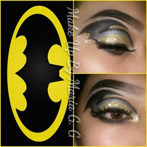 Batman Recreated this look from the artist @lucifersmydad  https://m.facebook.com/makeupbymariag.g