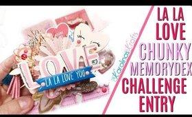 Valentine Memorydex card, Chunkiest Memorydex Card I Ever Made! Solocraftz challenge entry