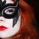 Katherene's masquerade look from the Vampire Diaries