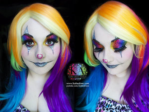 """Tutorial: https://www.youtube.com/watch?v=CC2dviJAJEs  Happy October 1st everyone! Halloween season has officially begun and now people can't tell you """"Ugh, Halloween already?"""" Hooray! To celebrate, here's the sparkliest clown tutorial ever... maybe."""