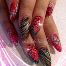 Animal Print Almond Shaped Nails