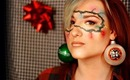 Get Lit For The Holidays! (decorative lights themed makeup look)