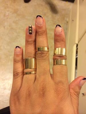 Simple yet edgy.  Rings- H&M