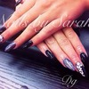 Black and gems...like our Facebook page...Dolly Glitter hair nails & beauty 💕