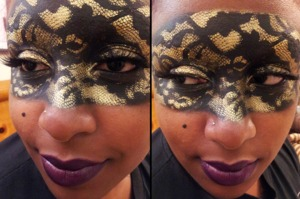 also used: War Paint Beauty Destroyer Eyeshadow, basic cream Halloween face palette, Maybelline Expert Wear Eyeshadow Single in Golden Halo, and Sephora Khol Expert in 01 Noir Artist