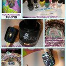 Quick tutorial for Tropical Floral Watermarble