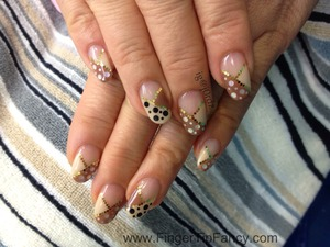 DETAILS HERE:  http://fingertipfancy.com/black-white-gold-nude-great-match