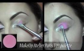 Pink and purple makeup - MakeUp Atelier Paris T09
