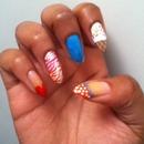 Multi design nails