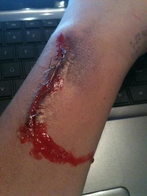BEST special effects makeup I've EVER done :2  lol, #SOPROUD
