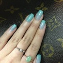Gray and turquoise gradient