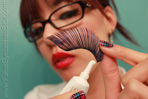 Tips and tricks you wish you'd known about. Trust me. Read on here: http://falseeyelashessite.com/blog/2011/11/15/all-about-adhesives-part-i-how-to-properly-apply-false-eyelash-glue/