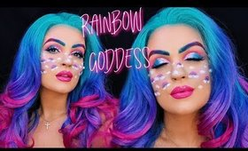 RAINBOW GODDESS Halloween Makeup 🌈