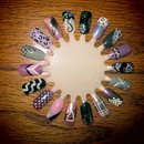 Purple and Black Nail Wheel
